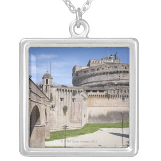 Castel Sant'Angelo is situated near the vatican, 3 Square Pendant Necklace
