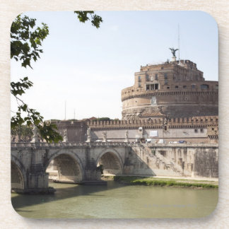 Castel Sant'Angelo is situated near the vatican, 4 Beverage Coasters
