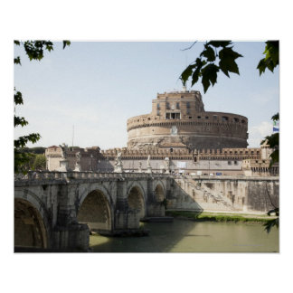 Castel Sant'Angelo is situated near the vatican, Poster