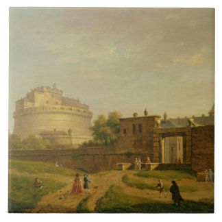 Castel Sant'Angelo, Roma, 1776 (aceite en lona) Azulejo Cuadrado Grande