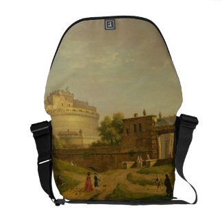 Castel Sant'Angelo, Roma, 1776 (aceite en lona) Bolsa Messenger
