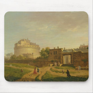 Castel Sant'Angelo, Roma, 1776 (aceite en lona) Tapete De Ratón