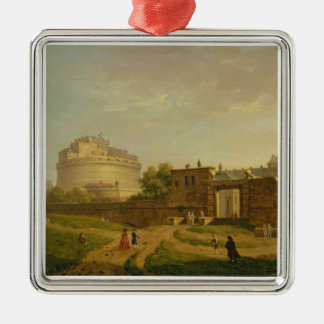 Castel Sant'Angelo, Rome, 1776 (oil on canvas) Metal Ornament