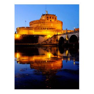 Castel Sant'Angelo y el río de Tíber Postal