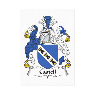 Castell Family Crest Stretched Canvas Prints
