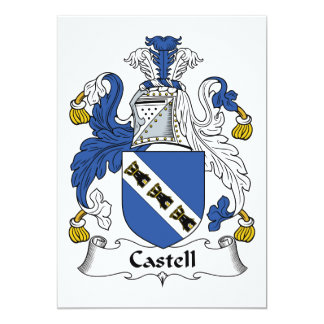 Castell Family Crest 5x7 Paper Invitation Card
