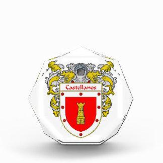 Castellanos Coat of Arms Family Crest Award
