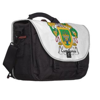 Castellanos Family Crest Laptop Messenger Bag