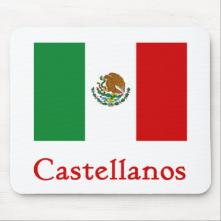 Castellanos Mexican Flag Mouse Pad