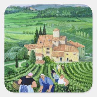 Castellina-in-Chianti Square Sticker