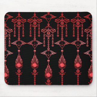 CASTELLINA JEWELS ORNATE RED GOTH MOUSE PAD