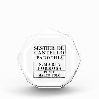 Castello-Formosa-Marco Polo, Venice, Street Acrylic Award