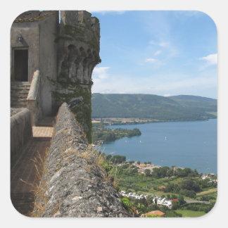 Castello Orsini-Odescalchi en Bracciano Calcomanía Cuadradas Personalizada