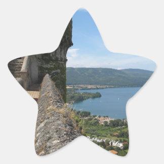 Castello Orsini-Odescalchi en Bracciano Calcomanía Forma De Estrella Personalizada