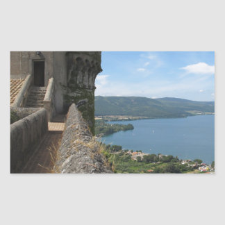 Castello Orsini-Odescalchi en Bracciano Rectangular Pegatina