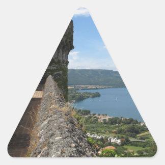Castello Orsini-Odescalchi en Bracciano Pegatinas De Trianguladas