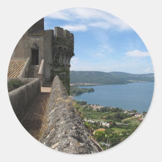 Castello Orsini-Odescalchi en Bracciano Pegatinas Redondas