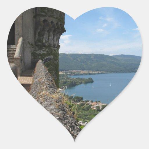 Castello Orsini-Odescalchi en Bracciano Pegatina En Forma De Corazón