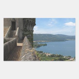 Castello Orsini-Odescalchi en Bracciano Pegatina Rectangular