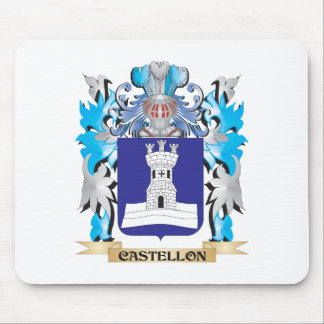 Castellon Coat of Arms - Family Crest Mouse Pad