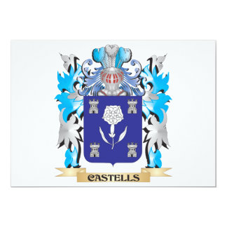 Castells Coat of Arms - Family Crest 5x7 Paper Invitation Card