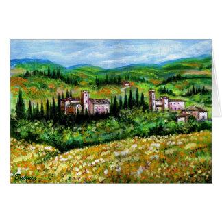 CASTELPERGOLATO IN CHIANTI YELLOW FLOWER FIELDS CARD