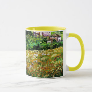 CASTELPERGOLATO IN CHIANTI  / YELLOW FLOWER FIELDS MUG