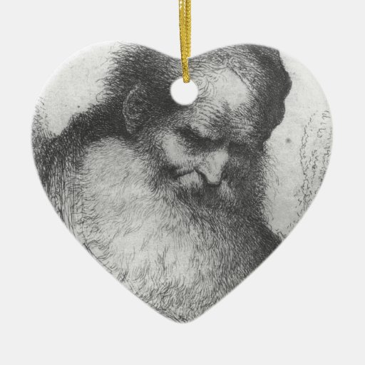 Castiglione - Head of a Bearded Old Man Ceramic Ornament
