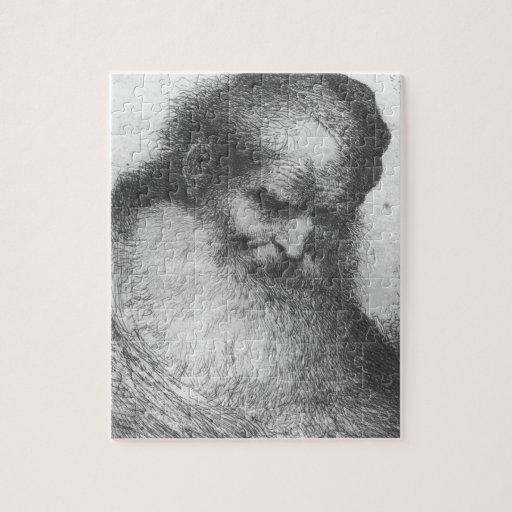 Castiglione - Head of a Bearded Old Man Puzzle