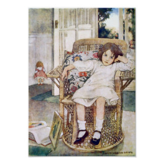 Castigo de la niñez de Jessie Willcox Smith Póster