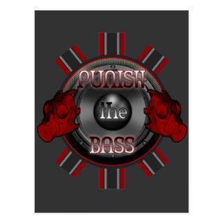 CASTIGUE el hardstyle BAJO DJ de Dubstep de la Tarjetas Postales