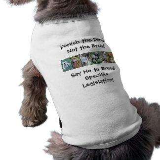 Castigue el hecho… No la camiseta del mascota de l Playera Sin Mangas Para Perro