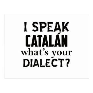 Castilian language designs postcard