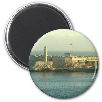 Castill del Morro La Habana Cuba Imán Redondo 5 Cm