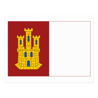 Castilla-La Mancha flag Postcards
