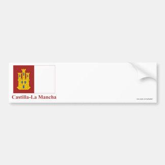 Castilla-La Mancha flag with name Bumper Sticker