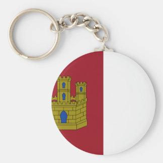 Castilla La Mancha (Spain) Flag Basic Round Button Keychain