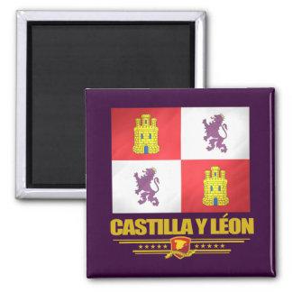 Castilla y Leon Flag 2 Inch Square Magnet