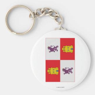 Castilla y León flag Basic Round Button Keychain