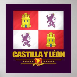 Castilla y Leon Flag Poster