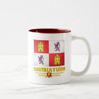 Castilla y Leon Flag Two-Tone Coffee Mug