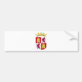 Castilla y Leon (Spain) Coat of Arms Bumper Sticker