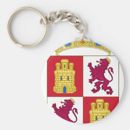 Castilla y Leon (Spain) Coat of Arms Keychain