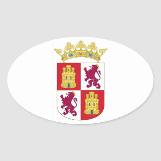 Castilla y Leon (Spain) Coat of Arms Oval Sticker