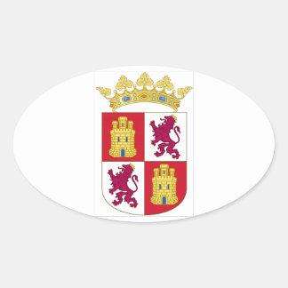 Castilla y Leon Spain Coat of Arms Sticker