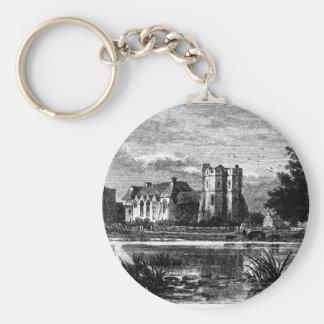 Castillo 1897 de Stokesay Llavero Redondo Tipo Pin
