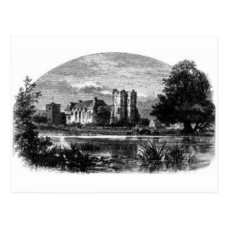 Castillo 1897 de Stokesay Postal