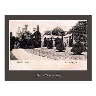 Castillo 1899 de País de Gales Gwydyr del vintage Postales