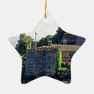 Castillo #2, Devon, Inglaterra de Dartmouth Adorno Navideño De Cerámica En Forma De Estrella