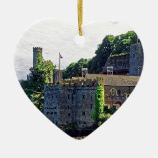 Castillo #2, Devon, Inglaterra de Dartmouth Adorno De Cerámica En Forma De Corazón